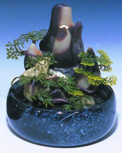 naturstein feng shui wasserfall jade tischbrunnen b ro ebay. Black Bedroom Furniture Sets. Home Design Ideas